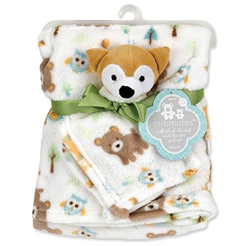 Cribmates Soft Plush Blanket and Blankie Pal Set (Fox)