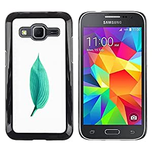 LECELL -- Funda protectora / Cubierta / Piel For Samsung Galaxy Core Prime SM-G360 -- Green Minimalist Leaf Nature --