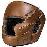 Hayabusa Leather Kanpeki Elite 3 Head Gear, Brown, One Size