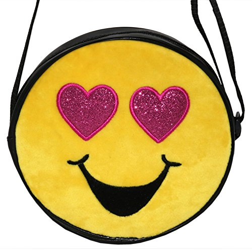 Emojination Love and Laughter 2-Sided Matt PVC Crossbody Bag, Adjustable Straps by Emojination (Image #4)
