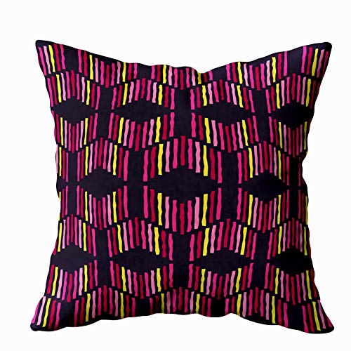 Douecish Ethnic Throw Pillows,Ethnic Boho Pattern Print Repeating Background Cloth Design Wallpaper,Throw Pillow Covers,Cushion Soft Home Sofa Decorative Throw Pillow Cases