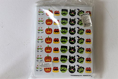 Halloween Mustache Adhesive Foam Shapes 13 Pages of 49 pcs (Oriental Trading Halloween Stickers)
