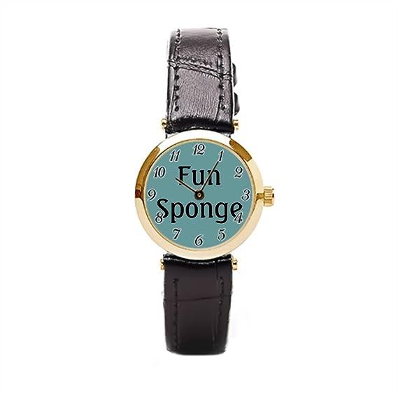 Ser un hombre piel reloj bandas Freddie divertido cita muñeca relojes para las mujeres