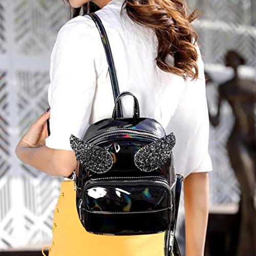 donna donna Zaini gabs con alla tracolla donna SUNNEZaino di laser guess donna paillettes Nero donna borse Zaino borsa donna borse da di borse marca borse vintage moda ali wqrqfSI4