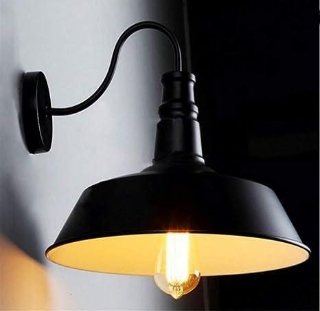Luz de pared con jaula negra Aplique de pared Accesorios de ...