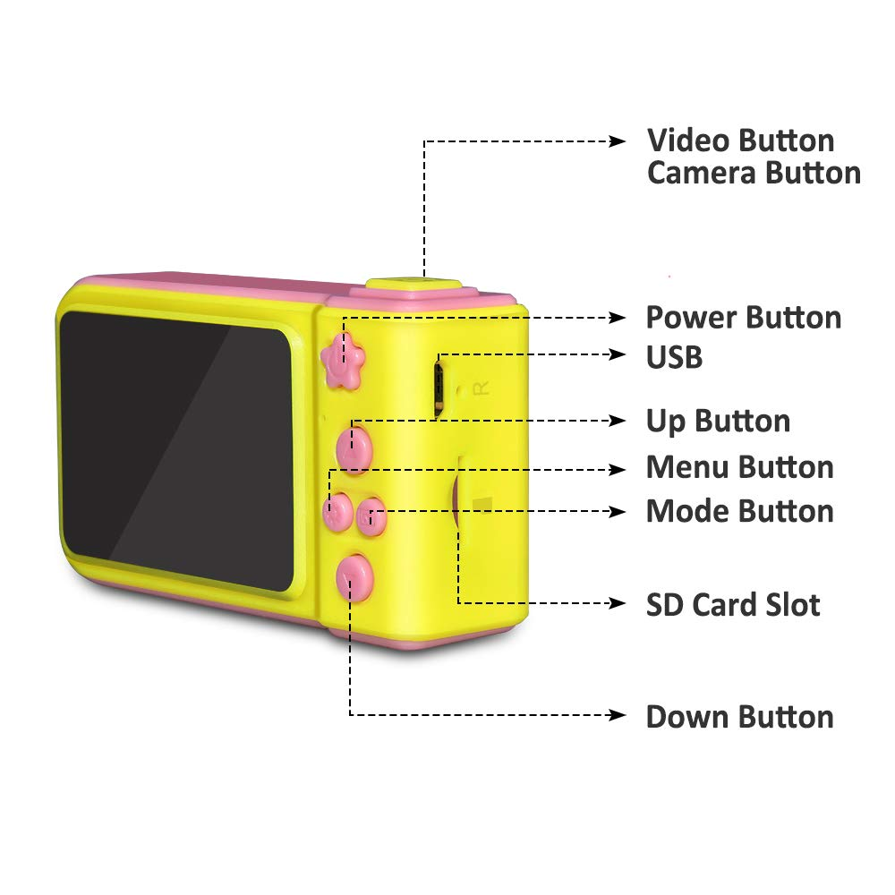 WIKI Birthday Presents Gifts for 3-8 Year Old Girls, Digital Camera for Kids Cool Toys for 3-8 Year Old Girls Outdoor Toys Age 3-8 Pink WKUSZXJ02 by WIKI (Image #6)