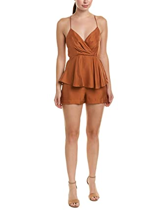 1796de6fe90 Image Unavailable. Image not available for. Color  Cosette Womens Orianna  Silk Romper ...