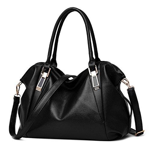 Negro a Ladies venta bolsos hombro portátil PU la bolso Handbags Pahajim Handbag Fashion de Office Women señoras SwxqOaZY