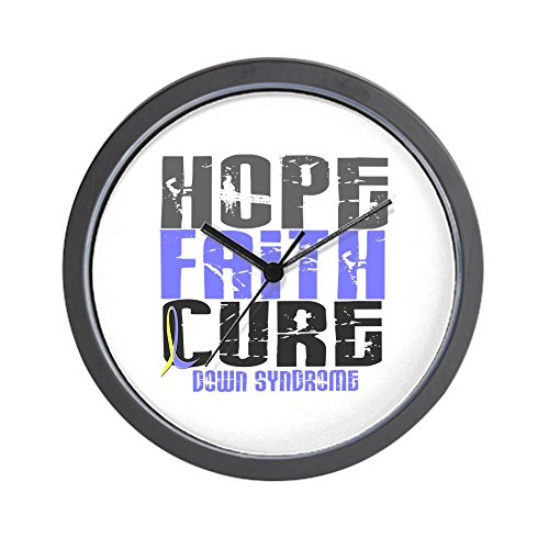 CafePress - HOPE FAITH CURE Down Syndrome Wall Clock - Unique Decorative 10'' Wall Clock by CafePress