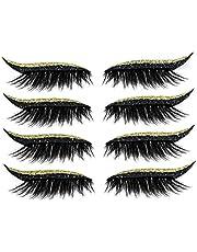 Gekleurde eyeliners Stickers Eyelid Makeup Stickers Glitter Eye Liners Eyelid Tape Meisjes Partij en Dagelijkse Make-up Zwart