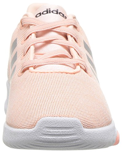adidas Kids CF Racer TR Running Shoe, Haze Coral/Metallic Silver/White, 6K M US Toddler by adidas (Image #4)
