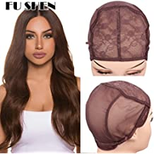 Quality Double Lace Wig Weaving Cap For Making Wigs With Adjustable Straps and Combs Brown Color Stretch Mesh Jewish Hair Net Confortable Wig Caps For Hair Weave (Brown 1 Piece M-21 Inch)