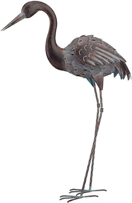 """Preening Regal Bronze Heron 43/"""""""
