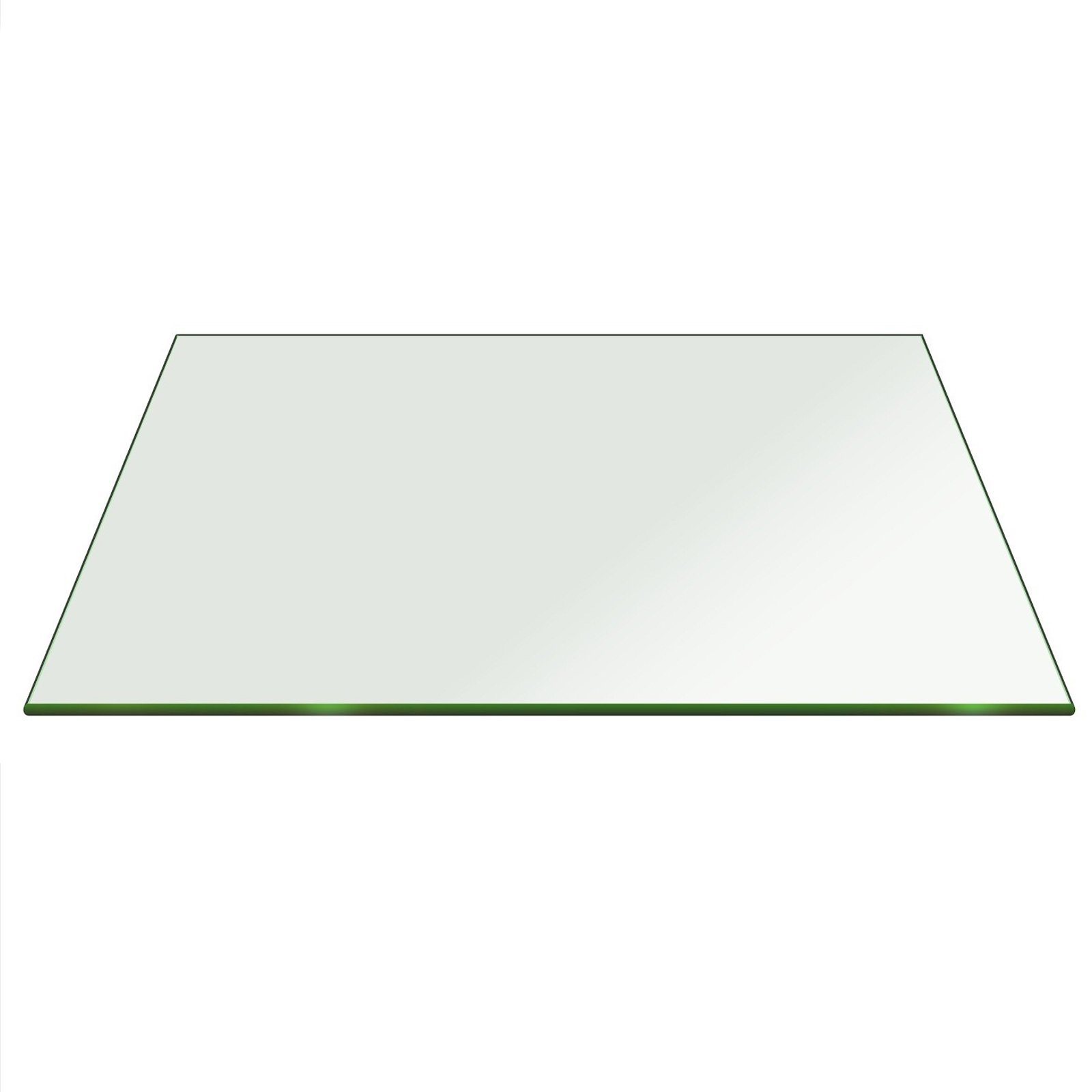 Fab Glass and Mirror 36SQ10THPETE 36'' Clear Square 3/8'' Inch Thick Tempered Pencil Edge Polish Radius Corners Glass Table Top