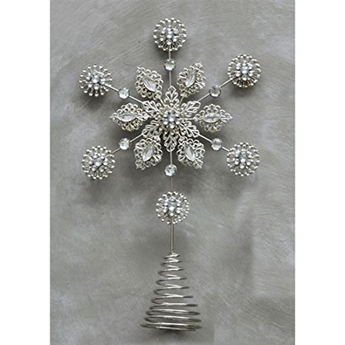 Metal Acrylic Snowflake Topper Jewels