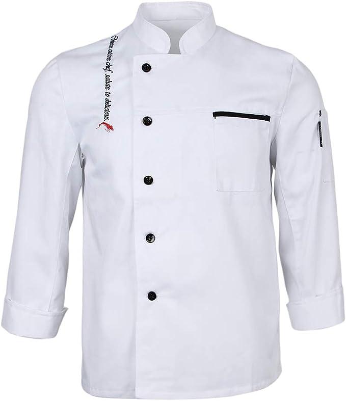 IPOTCH Chaqueta de Chef Unisex Traje de Camareros Guisanderos Mangas Largas de Hotel Cinco Estrellas: Amazon.es: Ropa y accesorios