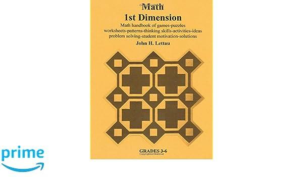 Amazon.com: Math 1st Dimension (9781481078450): John H. Lettau: Books