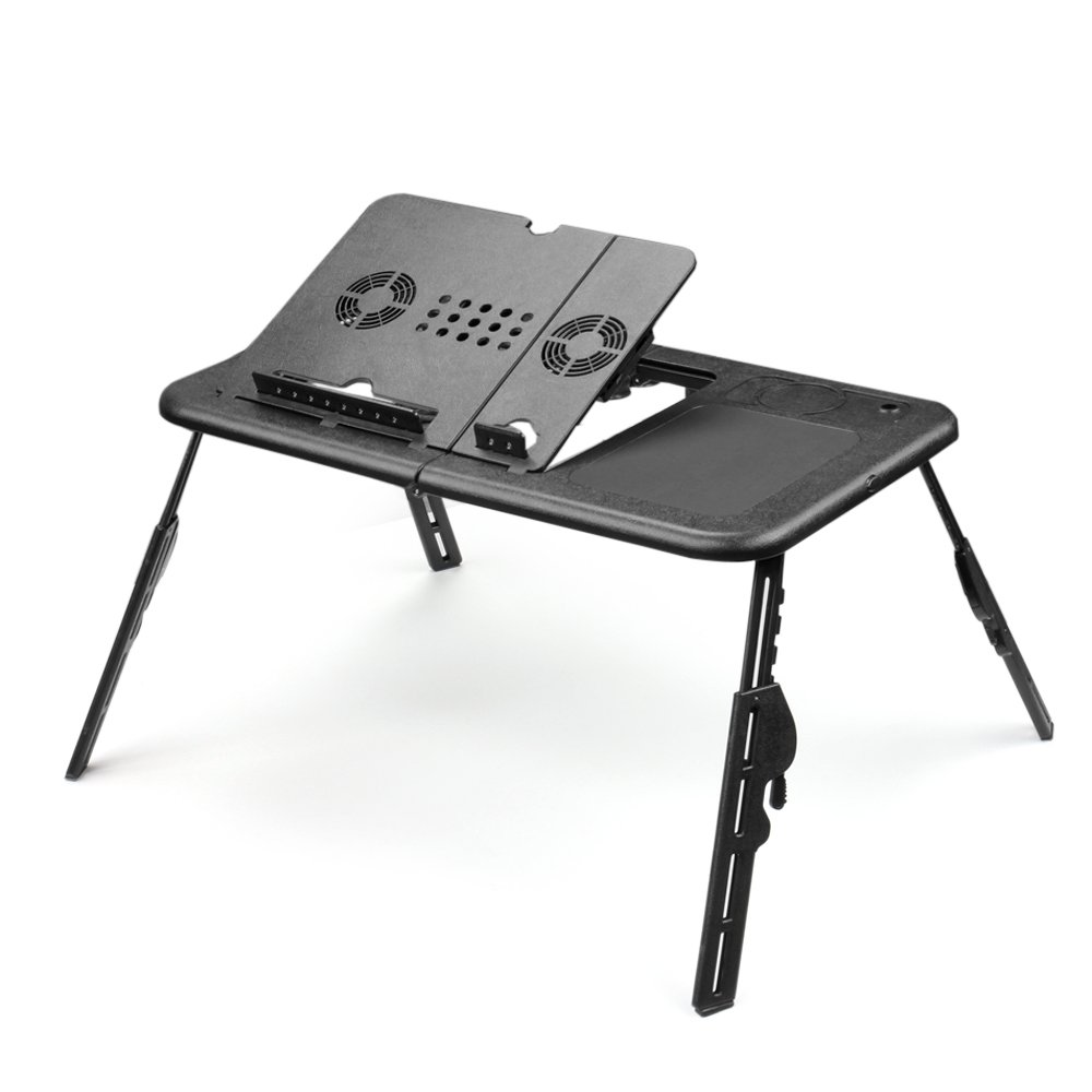 Laptop Chair Desk Amazoncom Flexzion Folding Laptop Desk Adjustable Usb Notebook