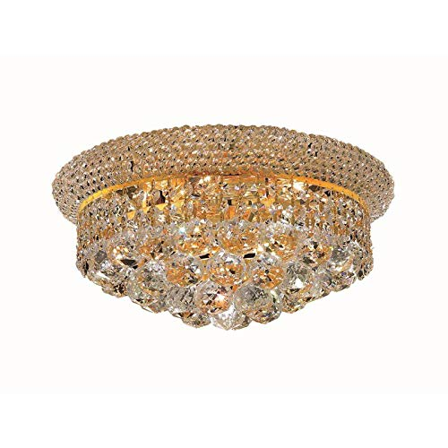 Elegant Lighting V1800F14G/RC Primo - Six Light Flush Mount, Crystal Style Options: Clear Royal Cut from Elegant Lighting