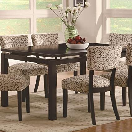 Amazon.com - Coaster Home Furnishings Transitional Dining Table ...