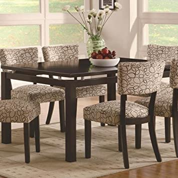 Amazon.com: Coaster Home Furnishings Transitional Dining Table ...