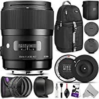 Sigma 35mm F1.4 ART DG HSM Lens for CANON DSLR Cameras w/Sigma USB Dock & Advanced Photo and Travel Bundle