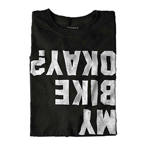 Brisco Brands is My Bike Okay? Funny Motorcycle Biker T Shirt Tee Black