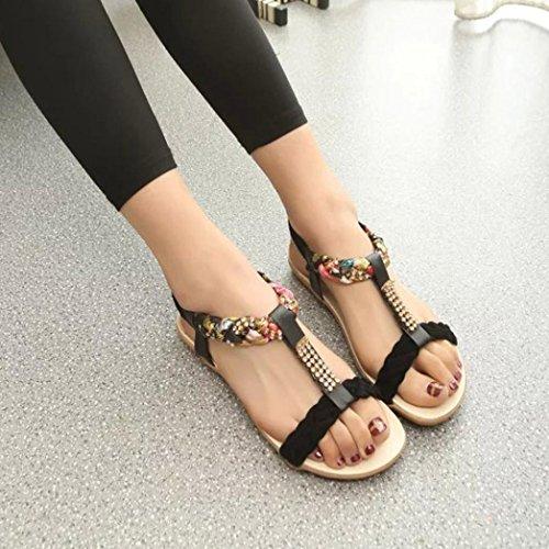 Bride lastique Sandales Confort Femmes Noir Chaussures Sport De Hunpta wqZRxvt