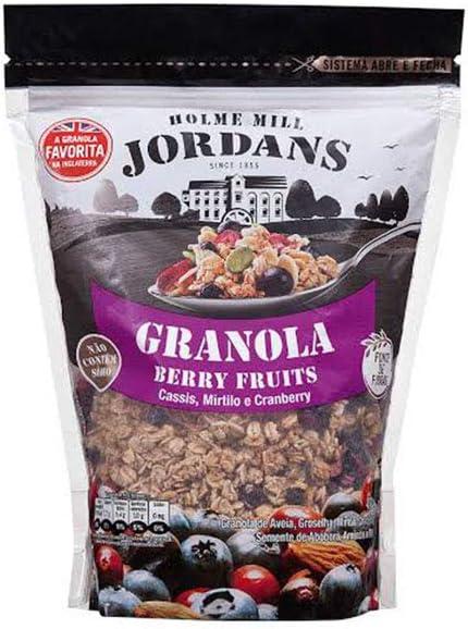 Granola Cereal Berry Fruits, Cassis, Mirtilo e Cranberry Jordans 400g por AB Brasil