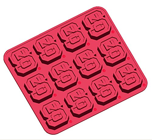 Fanpans NCAA North Carolina State Wolfpack Ice Tray & Candy Mold, One Size, Red