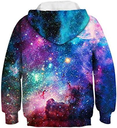 Galaxy Art Paint 3D Print Kids Boys Girls Hoodie Sweatshirt Pullover Jumper Tops