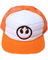 Star Wars Orange Mesh Trucker With 3D Rebel Alliance Logo One Size