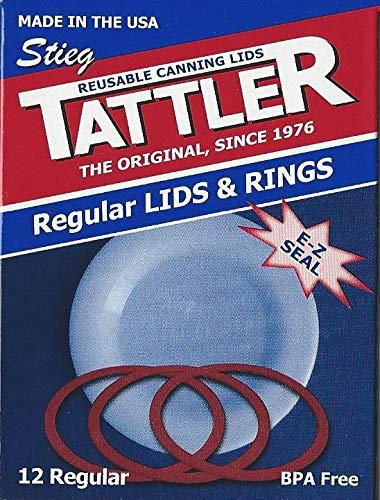 Authentic Tattler E-Z Seal Reusable Canning Lids - Regular Mouth 12 Dozen (144 Lids & Rings) by Tattler E-Z Seal Reusable Canning Lids (Image #2)
