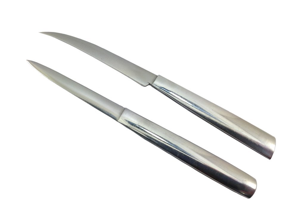 Lot of 2 Stainless Carving Knives Fruit Vegetable Thai Knife Collection Art Soap by Mr_air_thai_knife