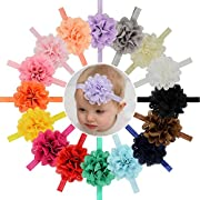 16pcs Baby Girls Headbands Flowers Soft Hairbands for Baby Girls Infants Toddlers
