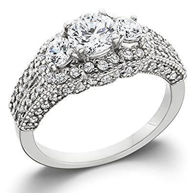 Amazon 1 3 4ct Vintage Heirloom Diamond Ring 14K White Gold
