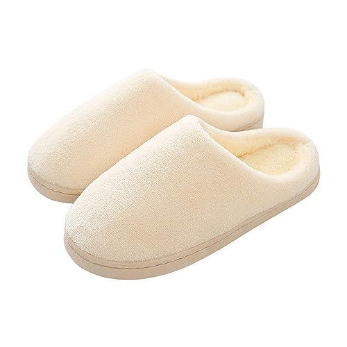 Zapatillas De Algodón Lavar A Máquina para Mujer Zapatillas Suaves Antideslizantes Zapatos De Invierno Casa De Lana Artificial De Felpa Zapatos De Interior: ...
