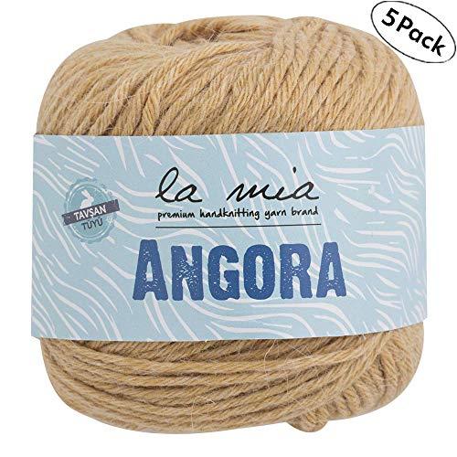 Medium 200m // 218yd L047 Worsted Beige 100 g Super Soft Yarn 3 Skein La Mia Baby 50/% Cotton Total 10.5 oz Each 3.5 oz Best for Baby and Amigurumi