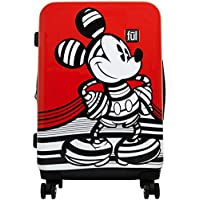 FUL Disney Striped Mickey Mouse 29 in. Hard Sided Luggage