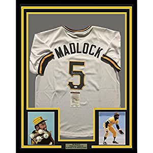 Framed Autographed/Signed Bill Madlock 33x42 Pittsburgh Pirates White Baseball Jersey JSA COA