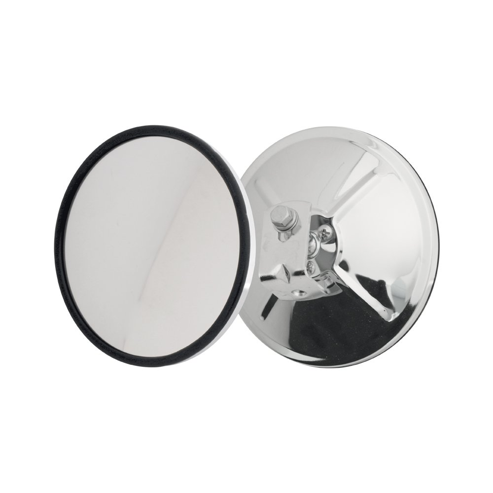 Grand General 33260 Chrome 6 Convex Blind Spot Mirror with L Bracket