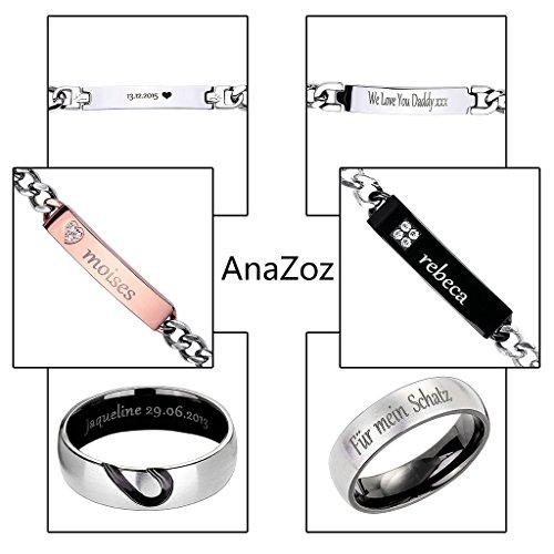 anazoz (Gravure) Fashion Jewelry simple Plaqué Argent pour anneaux bagues de fiançailles zircone poli rond blanc taille L 1/2-P 1/2