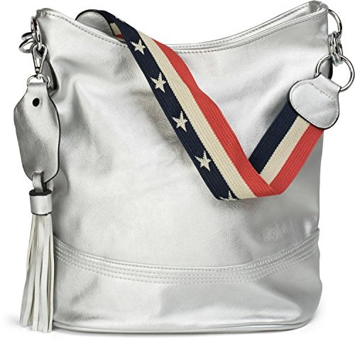 styleBREAKER - Bolso cruzados para mujer plateado plata talla única plata