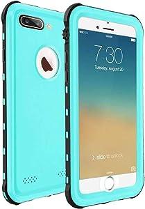 ChuWill Funda Impermeable iPhone 7 Plus, Carcasa iPhone 8 Plus, Certificado IP68 Antigolpes Sumergible Protección 360º Funda para iPhone 7/8 Plus(5.5 Inch) - Azul