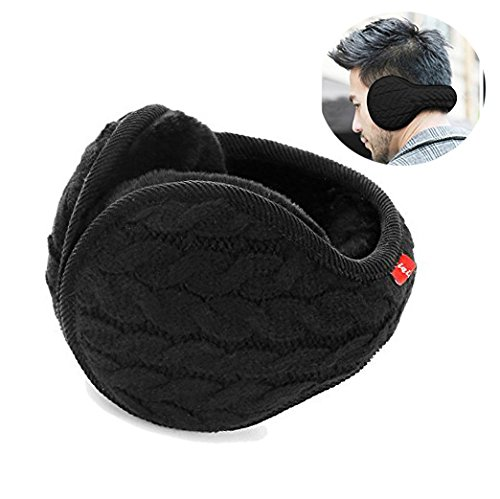 Earmuffs Warm - Unisex Foldable Knit Cashmere Plush-lined Earmuffs Winter Earmuffs for Men & Women