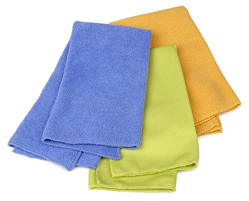 Buffalo Industries (65000) 12'' x 16'' Microfiber Cleaning Cloth, (Pack of 3) by Buffalo Industries