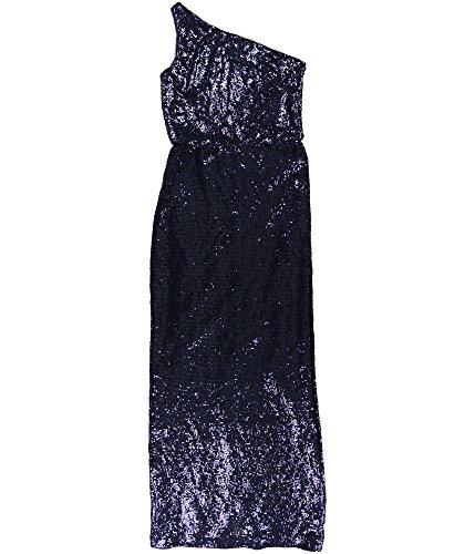 - Ralph Lauren Womens Milolina Sequined One-Shoulder Formal Dress Navy 6