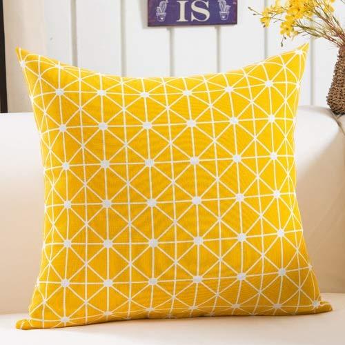 HhGold Geométrico Negro Amarillo Sofá Decorativo Cojín Suave ...