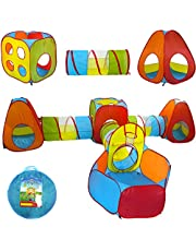 Playz 7-piece Pop Up Play Tents; Tunnels; & Ball Pit Set