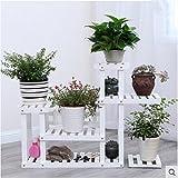 Solid wood creative floor pots shelf wooden bonsai frame